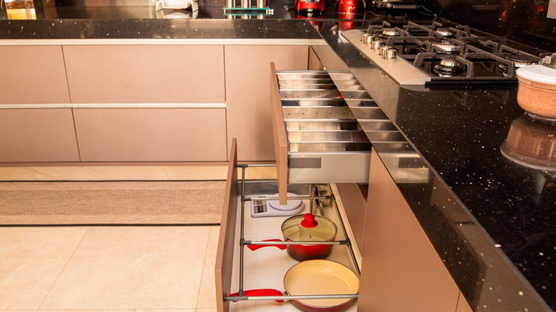 O luxo da cozinha planejada
